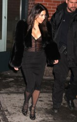 Kim Kardashian Tries Out Fur Coat Trend 3