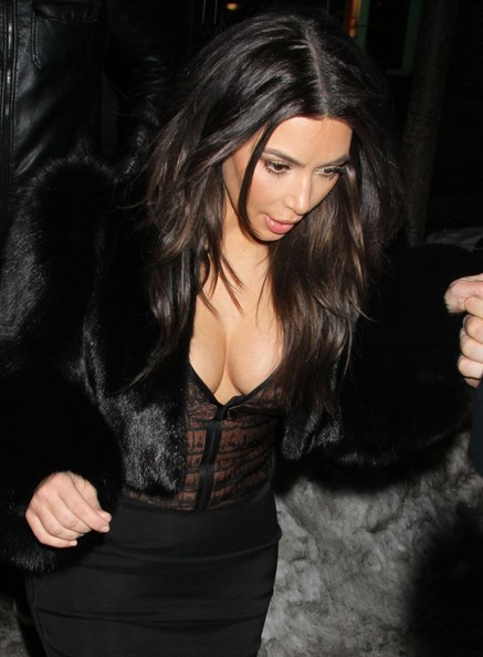 Kim Kardashian Tries Out Fur Coat Trend 5