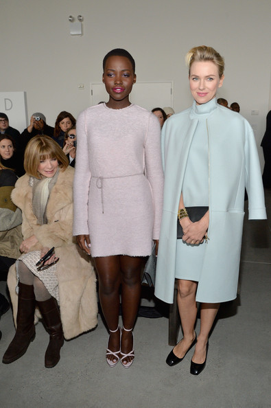 Lupita Nyong'o Looks Chic Sitting Front Row At Calvin Klein NYFW Show 2