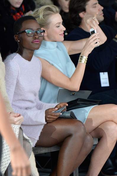 Lupita Nyong'o Looks Chic Sitting Front Row At Calvin Klein NYFW Show 4