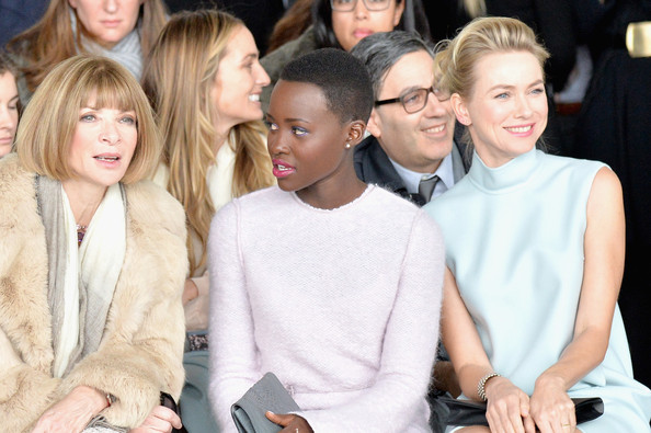 Lupita Nyong'o Looks Chic Sitting Front Row At Calvin Klein NYFW Show 5