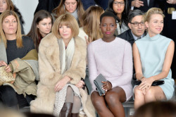 Lupita Nyong'o Looks Chic Sitting Front Row At Calvin Klein NYFW Show 6