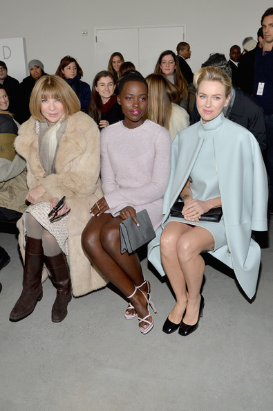 Lupita Nyong'o Looks Chic Sitting Front Row At Calvin Klein NYFW Show