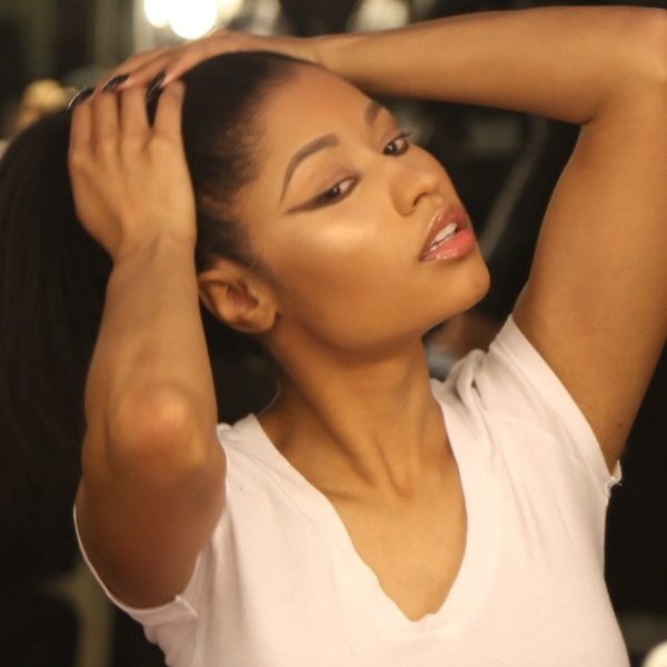 Nicki Minaj Shows Off Natural Hair In The Form Of A Ponytail 2