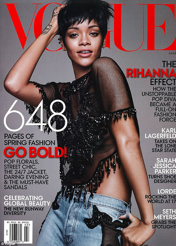 Rihanna Is Vogue's Cover Girl For March 2014