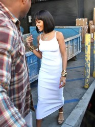 Rihanna's New Chin Length Bob and Blunt Bangs 5