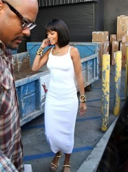 Rihanna's New Chin Length Bob and Blunt Bangs 6