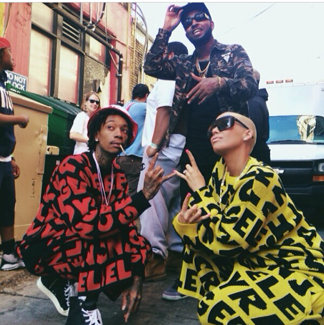 Amber Rose and Hubby Wiz Khalifa Show Some Swag At SXSW 2