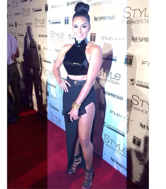 Basketball Wives Star Laura Govan Works Crop Top Trend