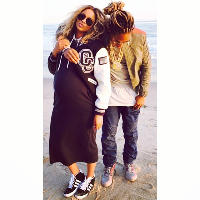 Ciara + Futuure Chill On The Beach