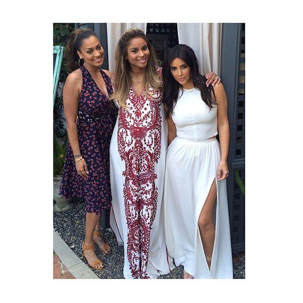 Ciara Has Fun Baby Shower With Gal Pals Kim Kardashian U0026 La ...