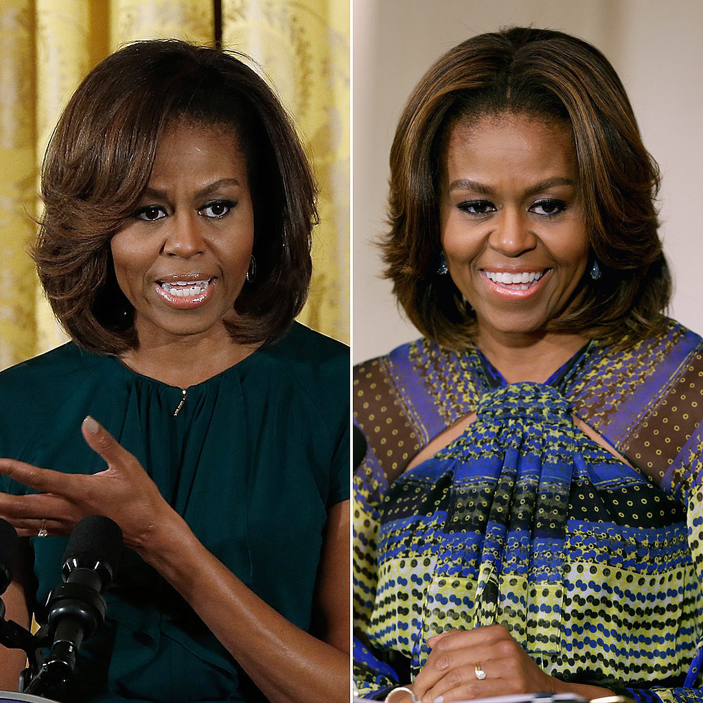 First Lady Michelle Obama Gets Honey Blonde Highlights