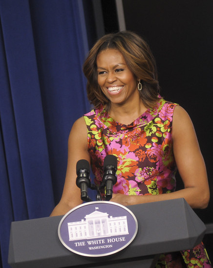 First Lady Michelle Obama Gets Honey Blonde Highlights 2