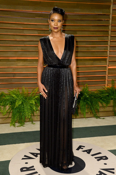 Gabrielle Union's Retro Vanity Fair Oscar Party Look