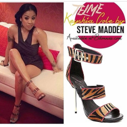 Keyshia Cole Shows Of New Shoes From Her Second Steve Madden Collection 6