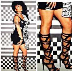 Keyshia Cole Shows Of New Shoes From Her Second Steve Madden Collection 7