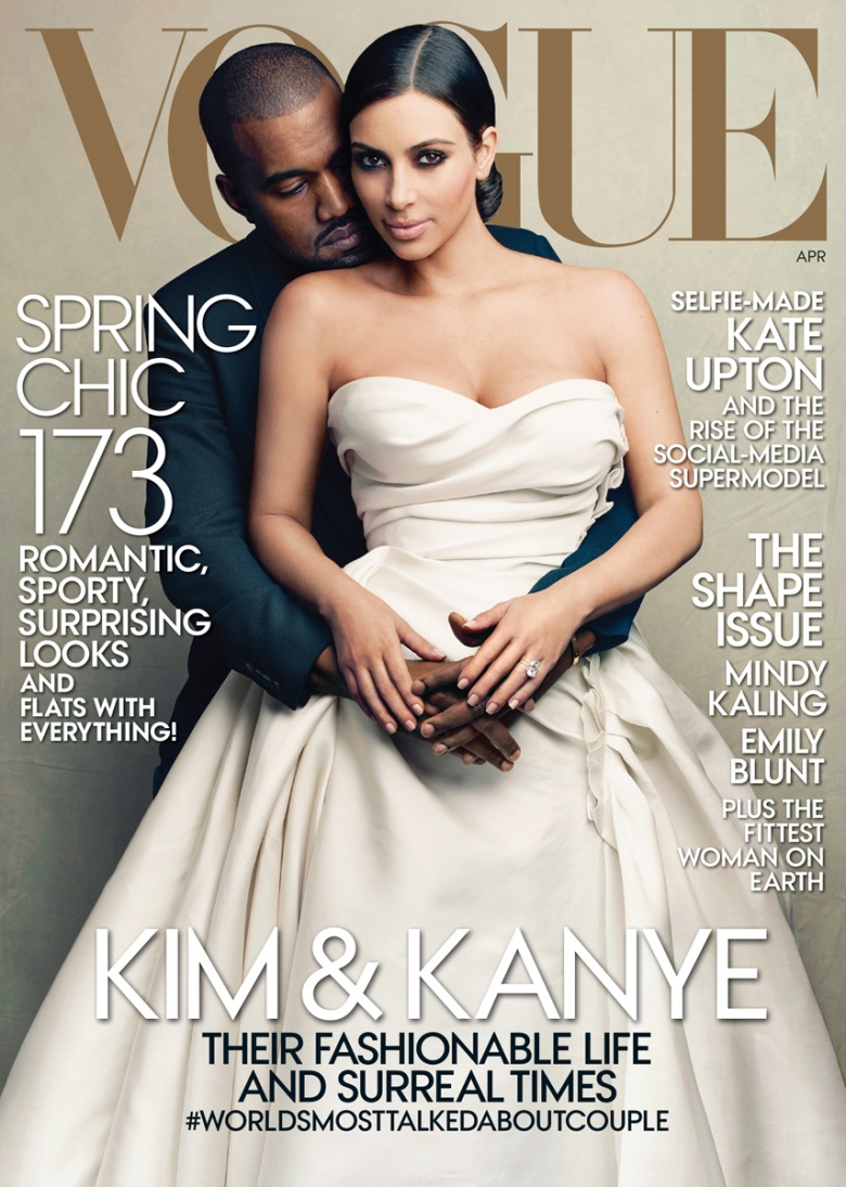 Kim and Kanye Nab Vogue Cover For April 2014.