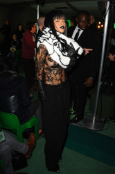 Rihanna Works Paris Fashion Week 6