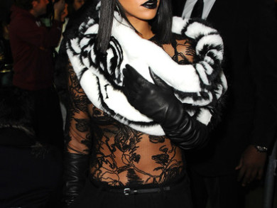 Rihanna Works Paris Fashion Week 7