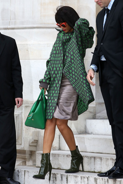 Rihanna Works Paris Fashion Week