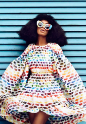 Solange Shows Off Colorful Hues In Harper's Bazaar April 2014 Issue