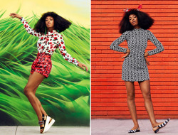 Solange Shows Off Colorful Hues In Harper's Bazaar April 2014 Issue 4