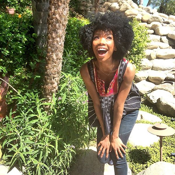 Brandy Shows Of Her Afro On Instagram 2