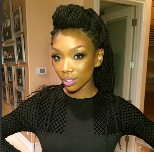 Brandy Shows Of Her Afro On Instagram 3