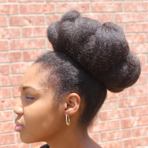 Creative Bun Hairstyles For Natural Hair 2