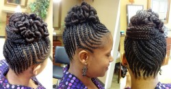 Creative Bun Hairstyles For Natural Hair 7