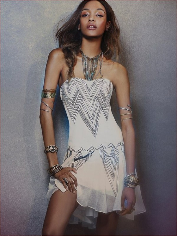 Jourdan Dunn Works It In Free People's Spring 2014 Dress Collection 2