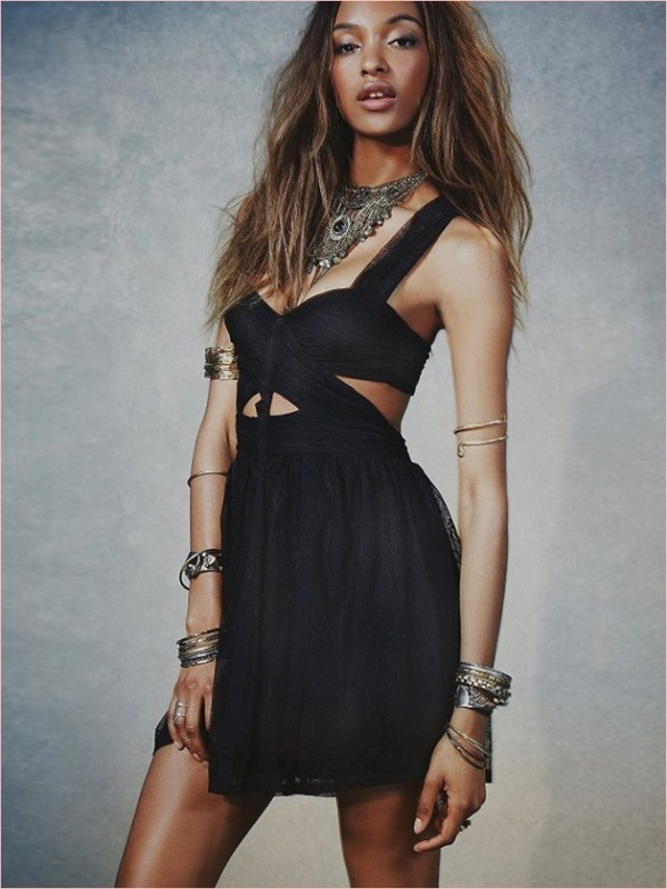 Jourdan Dunn Works It In Free People's Spring 2014 Dress Collection 4