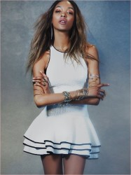 Jourdan Dunn Works It In Free People's Spring 2014 Dress Collection 5