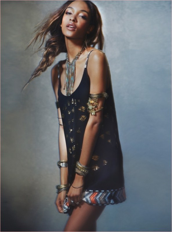Jourdan Dunn Works It In Free People's Spring 2014 Dress Collection 7