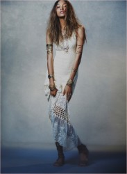Jourdan Dunn Works It In Free People's Spring 2014 Dress Collection 9