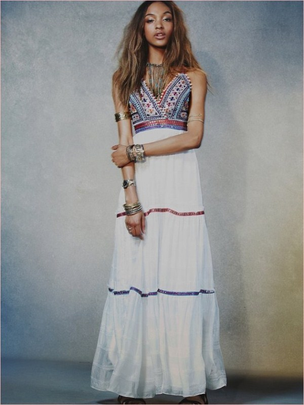 Jourdan Dunn Works It In Free People's Spring 2014 Dress Collection