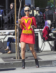 Amber Rose out in West Hollywood, CA