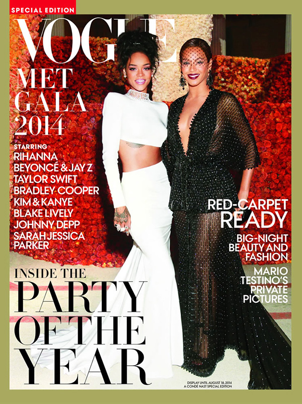Beyoncé & Rihanna Spotted On The Cover Of Vogue For The 2014 Met Gala Special Edition