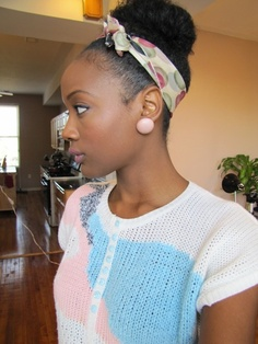 Natural Hairstyles With Accessories
