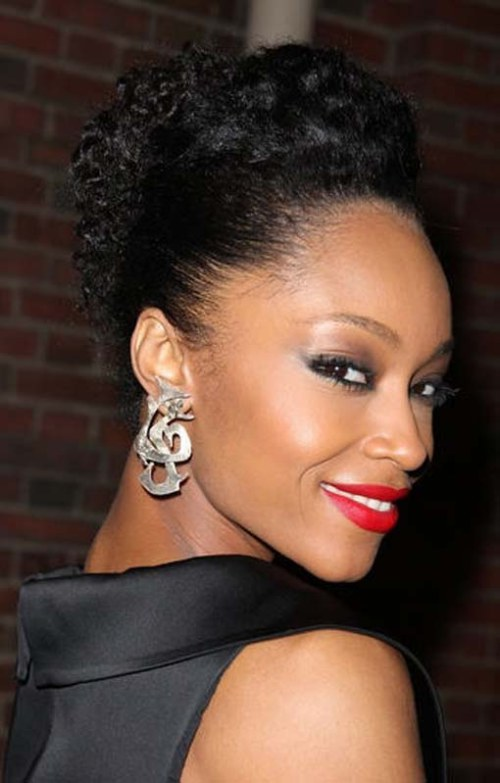 African American Natural Updo Hairstyles for Black Women