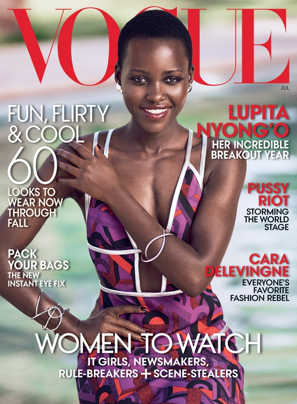 Lupita Nyong'o Steals The Cover Of Vogue For July 2014 Issue
