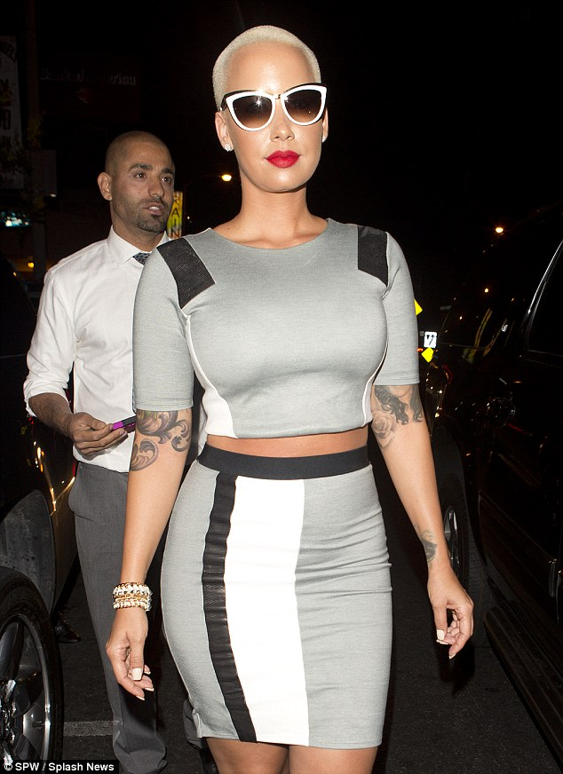 Amber Rose Works Crop Top + Midi Skirt Set At 1 Oak Nightclub 2