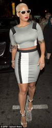 Amber Rose Works Crop Top + Midi Skirt Set At 1 Oak Nightclub 3
