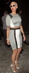 Amber Rose Works Crop Top + Midi Skirt Set At 1 Oak Nightclub 4