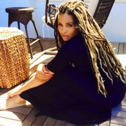 Ciara Gets Faux Locs Hairstyle 2