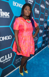 Danielle Brooks Shows Off Bold Purple Hair Color and Colorful Outfit At Young Hollywood Awards 3