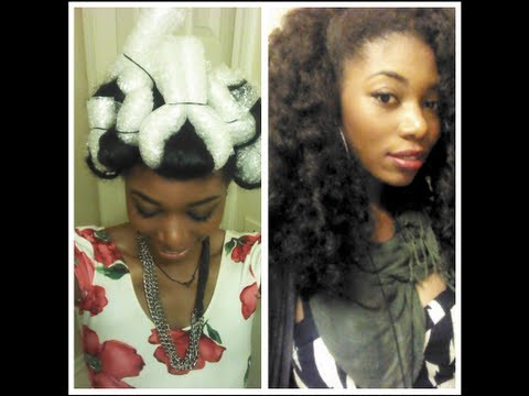 How To Create Heatless Curls Using Bubble Wrap 2