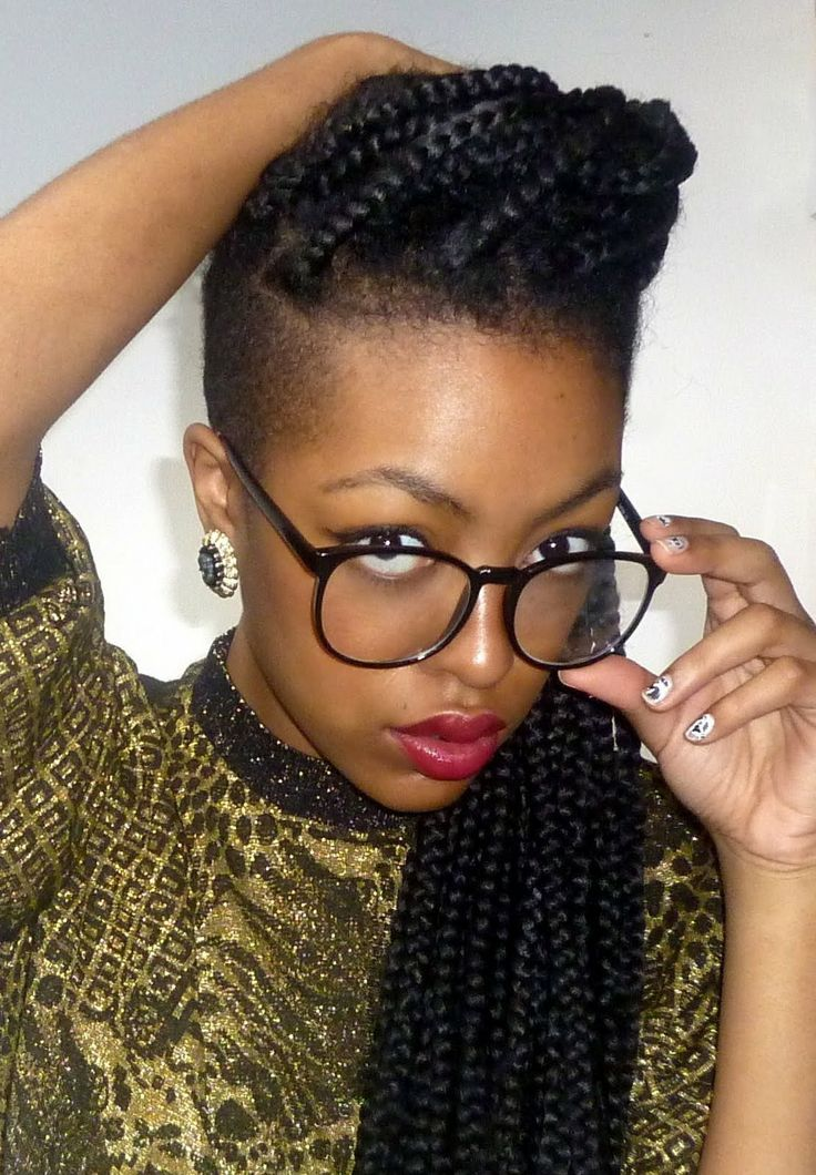 Awe Inspiring Box Braids With Haircut Braids Hairstyle Inspiration Daily Dogsangcom