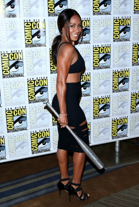 Jada Pinkett Smith Works Black Crop Top Black Cut-Out Skirt 2