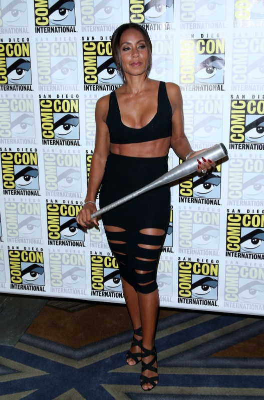 Jada Pinkett Smith Works Black Crop Top Black Cut-Out Skirt